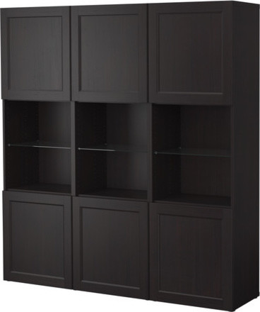 BESTÅ Storage combination with doors modern bookcases cabinets and computer armoires