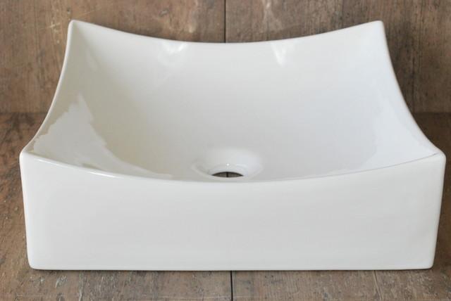 SQUARE PORCELAIN VESSEL SINK CB16 bathroom-sinks