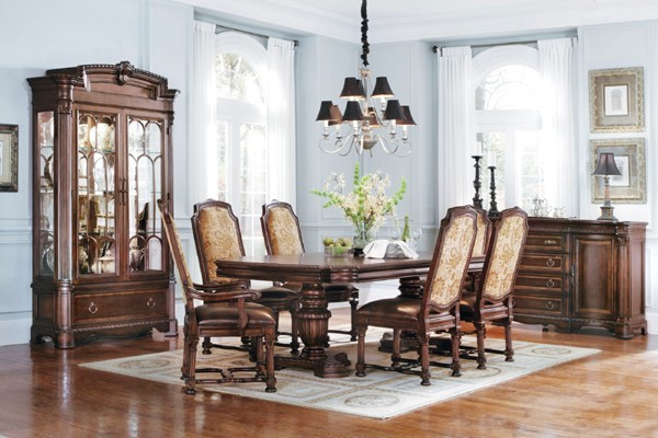 ART Furniture - Capri Double Pedestal Dining Room Set - ART-187221-2106-BS-TP-RO traditional-dining-chairs