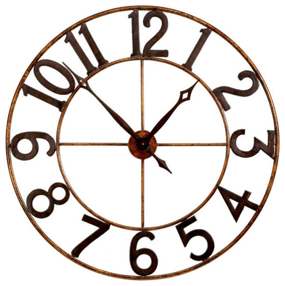 Large Numbers Wall Clock Eclectic Wall Clocks Atlanta By Iron Accents