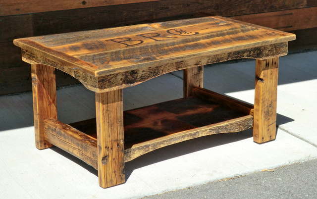 Rustic furniture at the galleria for Rustic coffee table