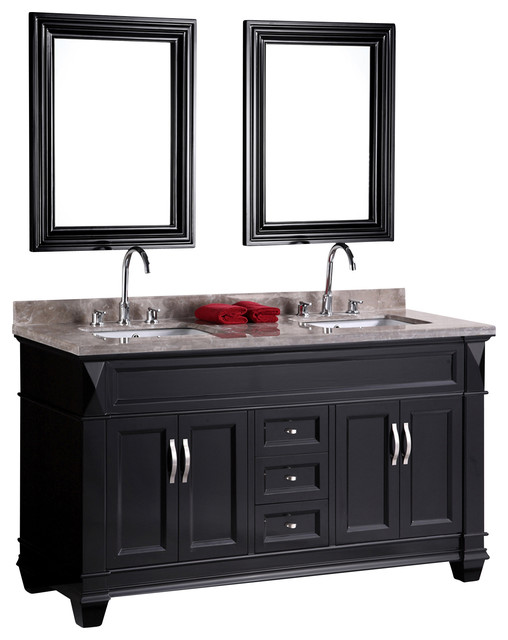 Double Drop In Sink Vanity Set Modern Bathroom Vanities And Sink