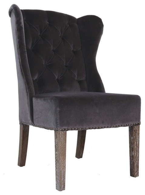 Wingback Velvet Dining Chair Farmhouse Dining Chairs