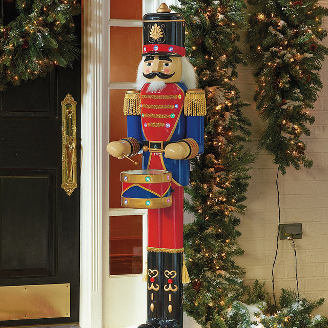 Nutcracker Drummer Outdoor Christmas Decorations