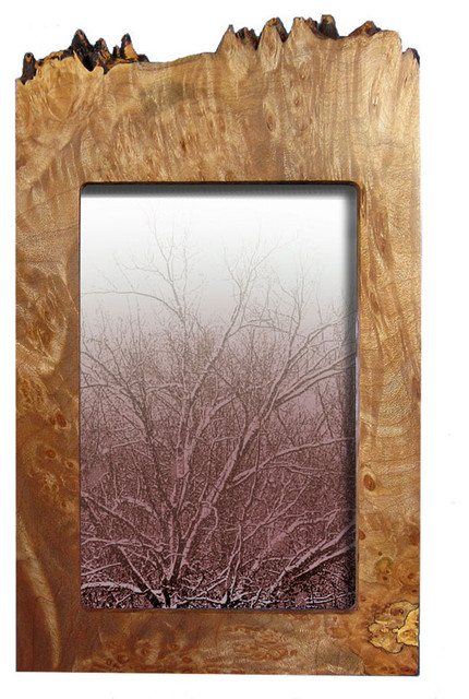 Maple Burl Vertical Frame traditional-picture-frames