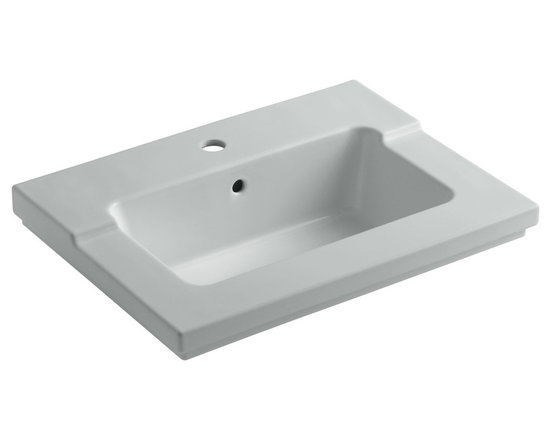 KOHLER - KOHLER K-2979-1-95-P Tresham One-Piece Surface and Integrated Lavatory - KOHLER K-2979-1-95-P Tresham one-piece surface and integrated lavatory with single-hole faucet drilling