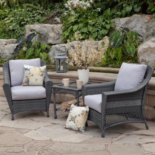 Palazetto Arbor All Weather Wicker Balcony Chat Set Contemporary Patio Fu