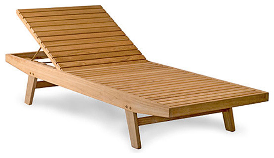 Teak Patio Chaise Lounge Outdoor Furniture Collection No Cushion Contempo