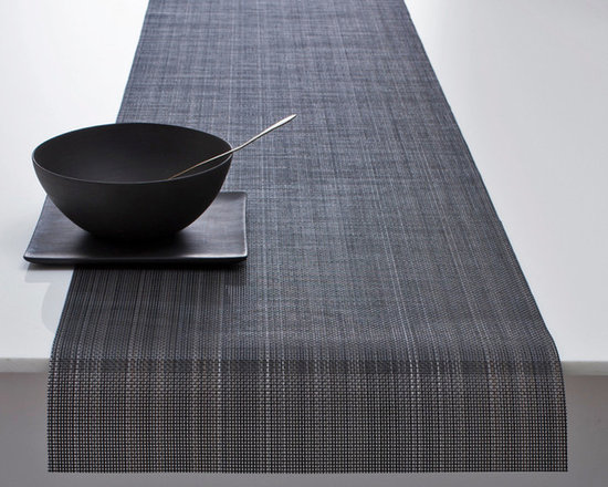 Chilewich - Chilewich Multi Stripe Table Runner - Chilewich - Look deeper into the Multi Stripe by Chilewich and you will see a complex gradient of metallic color.  Each color in the Multi Strip series - Granite, Harvest, and Jewel are composed of 10 individual colors for an effect that is sophisticated and refined.  All Chilewich products are durable and easy to clean. Made in the USA.