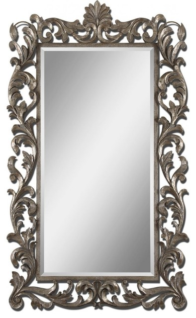Molise large ornate wall mirror for Large long wall mirrors