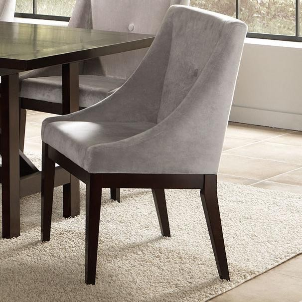 mage grey ultra suede tufted dinig chair modern dining chairs and