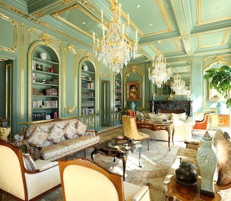 Beaux Art Beverly Hills Traditional Living Room
