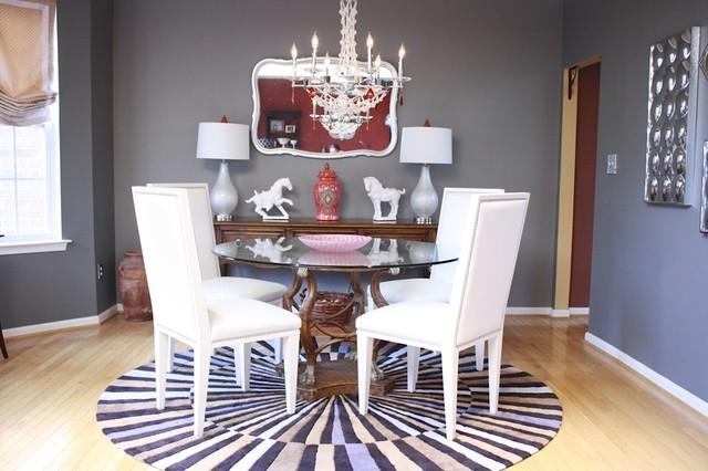 Gray Dining Room Makeover contemporary-dining-room