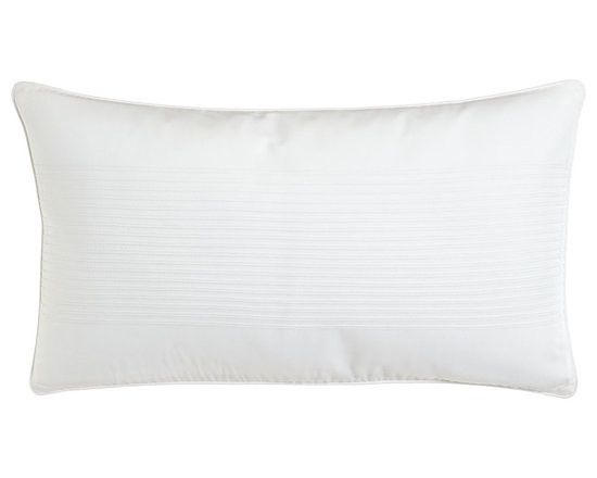 """Charisma - Pillow with Rib Detail 12"""" x 20"""" - CharismaPillow with Rib Detail 12"""" x 20""""Designer About Charisma:Charisma linens are known for an understated elegance with attention to detail and quality workmanship. The Charisma collection includes fine bedding and towels crafted from luxurious fabrics such as Egyptian cotton and Supima cotton for a truly soft touch that endures."""