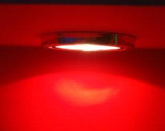 Red Shower Lighting modern-bathroom