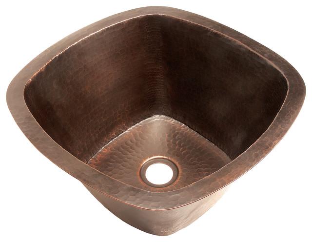 Belle Foret Model BFC5BAR Square Copper Kitchen Sink kitchen-sinks