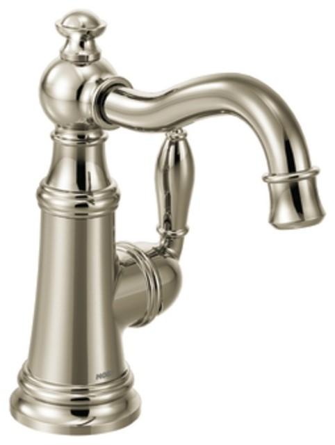 Moen Weymouth Single Handle Bathroom Faucet Brushed Nickel