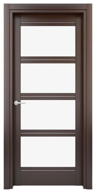 Solid wood interior door color wenge model w27gs - Modern solid wood interior doors ...