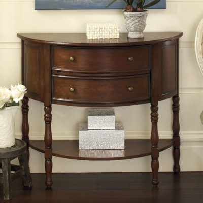 Torino Demilune traditional side tables and accent tables