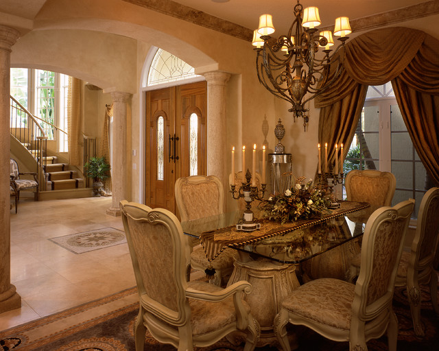 Custom Fort Lauderdale Home Transitional Dining Room