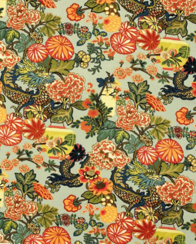 Chiang Mai Dragon Fabric traditional-fabric