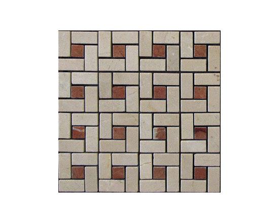 Rojo Alicante Pinwheel Natural Stone Mosaic -