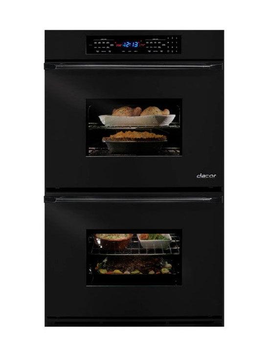 "Dacor Epicure Renaissance 27"" Double Electric Wall Oven, Black | EORS227B - 3.9 CU FT SELF CLEAN - EACH OVEN"