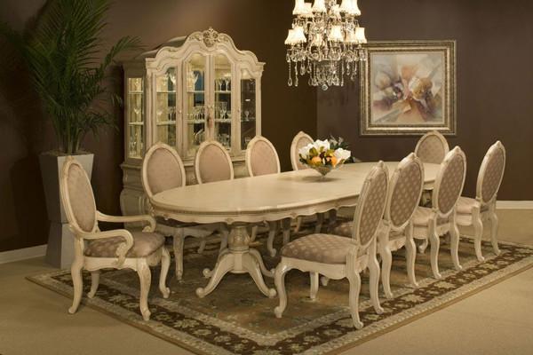 aico furniture lavelle blanc 13 piece dining room set 54002 04