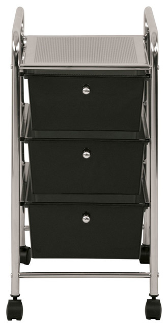 Ecr4Kids Preschool File Cart With 3 Drawer Rolling Mobile Organizer Assorted modern-toy-storage