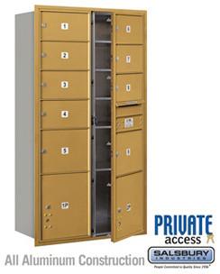 4C Horizontal Mailbox - Maximum Height Unit - Double Column - Bronze modern-mailboxes
