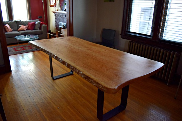 Cherry Wood Live Edge Dining Table