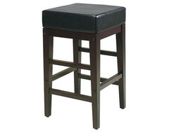 Office Star Metro 25 in. Square Seat Counter Height Stool - Espresso contemporary-bar-stools-and-counter-stools