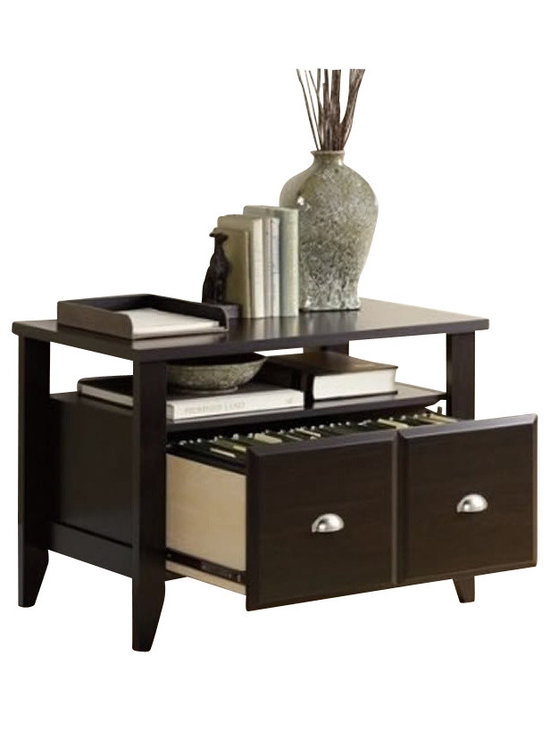Sauder - Sauder Shoal Creek Lateral File in Jamocha - Sauder - Filing Cabinets - 409944 - The perfect combination of country and modern style the Shoal Creek Collection from Sauder Woodworking is a welcome addition to any office or home. With its rich Espresso finish Nickelfinish binstyle drawer pulls and tapered legs Shoal Creek has an inviting casual appearance you're sure to loveThe Shoal Creek Compact Lateral File is designed to hold your important lettersize documents.