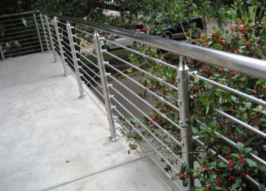 Stainless steel handrail railing modern outdoor decor for Modern outdoor railing
