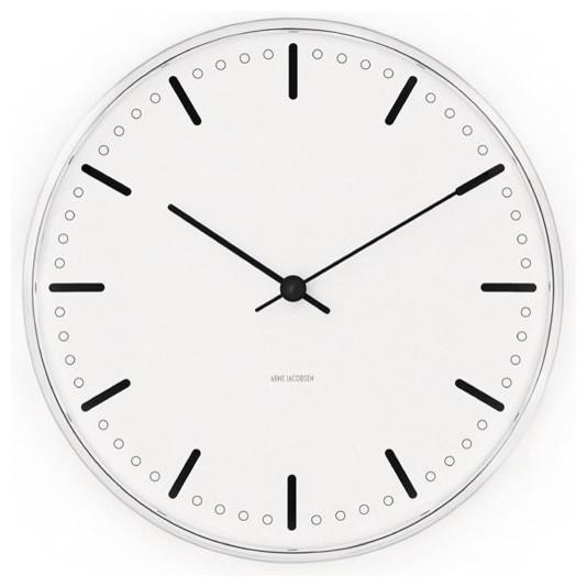 arne jacobsen city hall clock from rosendahl modern. Black Bedroom Furniture Sets. Home Design Ideas