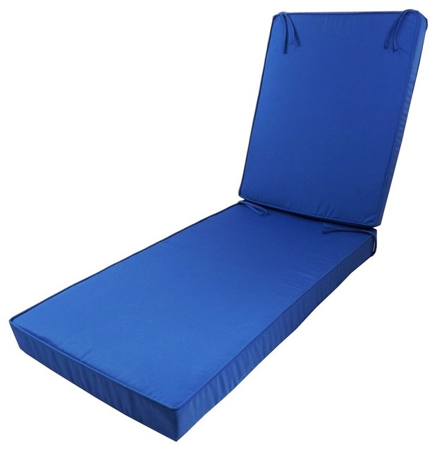 Sunbrella deep seating chaise lounge cushion aruba aqua for Aqua chaise lounge cushions