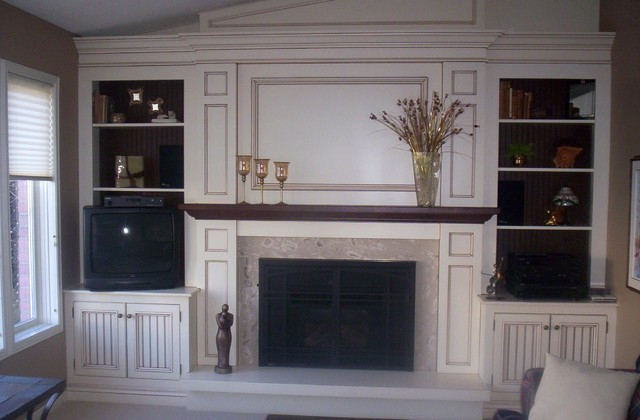 Oshawa Wall Unit/Fireplace Mantle traditional