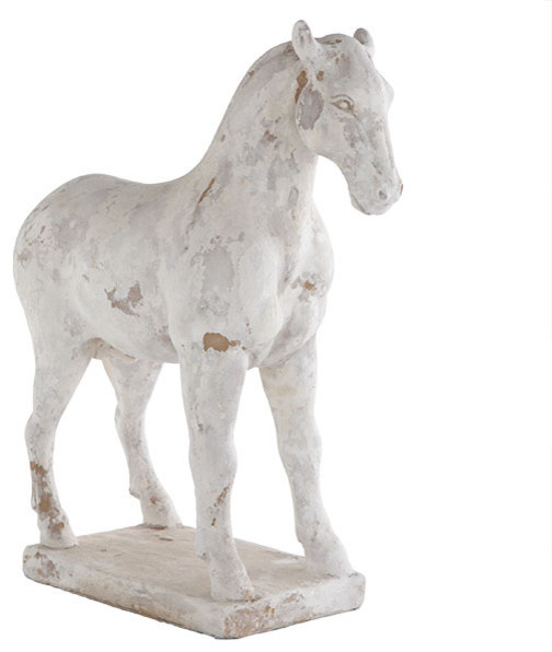 Chinese Zodiac Horse Statue traditional-garden-statues-and-yard-art