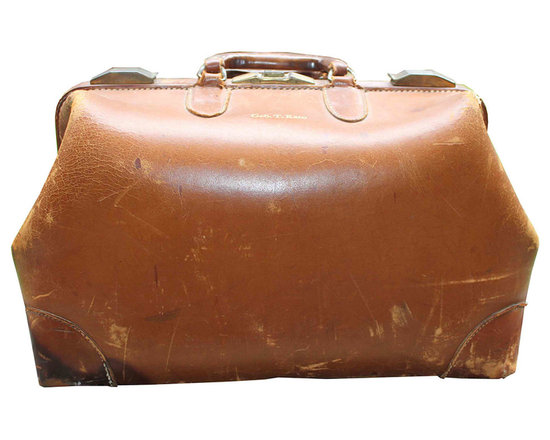 """Leather Doctor's Bag - """"Geo T. Kato"""" doctor's house call bag with loads of character."""