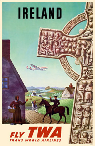 Fly TWA Ireland Masterprint eclectic-prints-and-posters