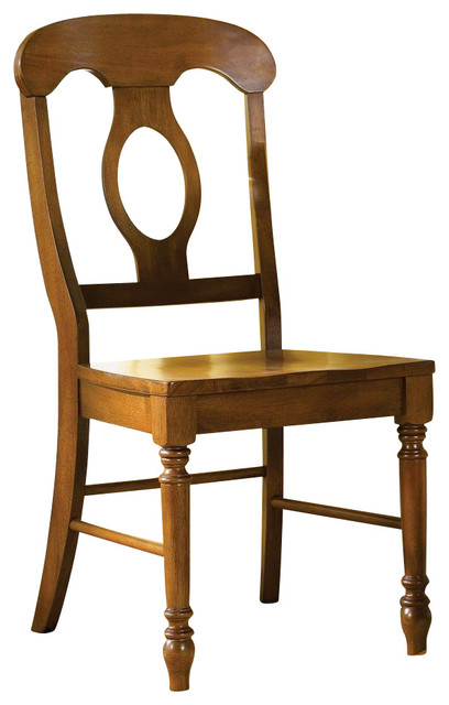 Liberty Furniture Low Country Bronze Napoleon Back Side Chair in Bronze, Medium traditional-dining-chairs