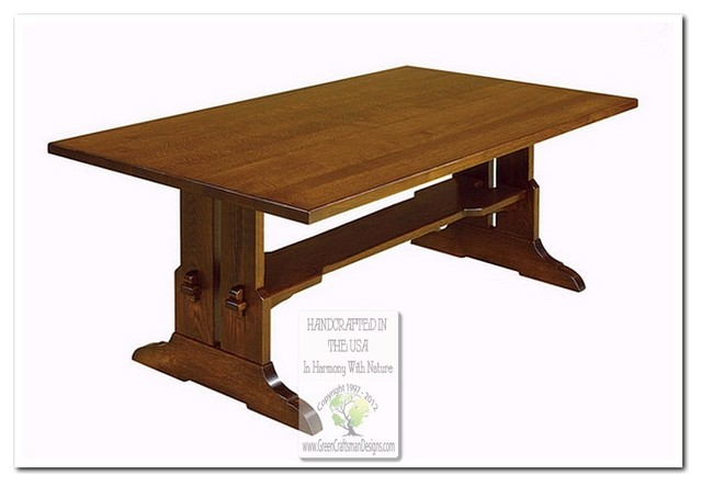 Craftsman Dining Table Solid Wood Craftsman Style Dining