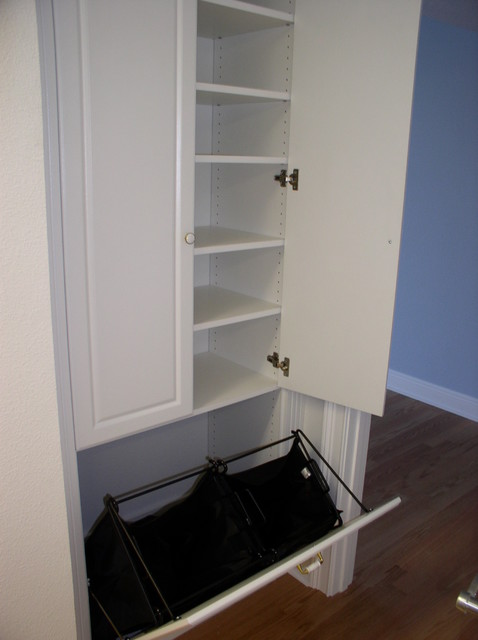 Bathroom Cabinet With Laundry Bin Gerrytcom With Laundry Hamper Cabinet.