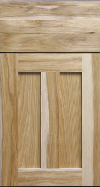 Natural Hickory Shaker Cabinet Door & Solid Drawer Front - Rustic - Kitchen Cabinetry - other ...