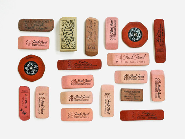 """Day 1: Vintage Erasers"" Print by Lisa Congdon modern-artwork"