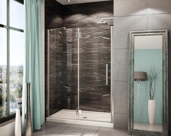 "Fleurco Platinum In-Line 49""- 50"" Door and Panel with Glass to Glass Hinges PXLP -"