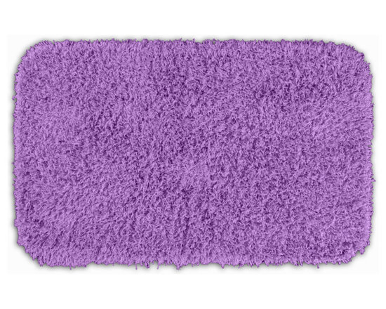 "Sands Rug - Quincy Super Shaggy Purple Washable Runner Bath Rug (2' x 3'4"") - Jazz up your bathroom, shower room, or spa with a bright note of color while adding comfort you can sink your toes into with the Quincy Super Shaggy bathroom collection. Each piece, whether a bath runner, bath mat or contoured rug, is created from soft, durable, machine-washable nylon. Floor rugs are backed with skid-resistant latex for safety."