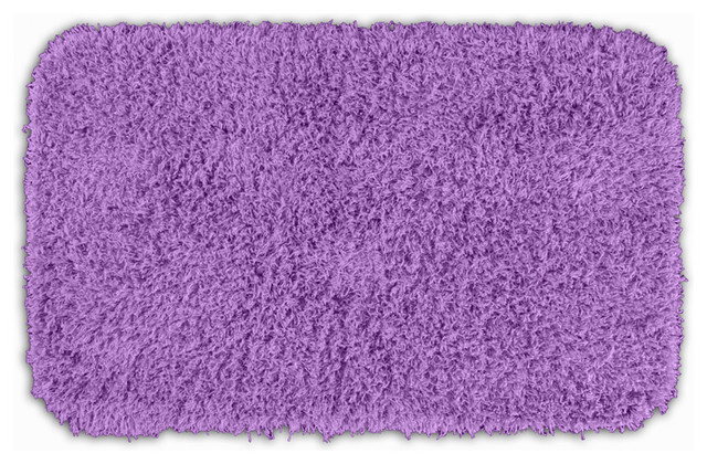 Quincy Super Shaggy Purple Washable Runner Bath Rug 2 39 X 3 39 4 Contemporary Rugs