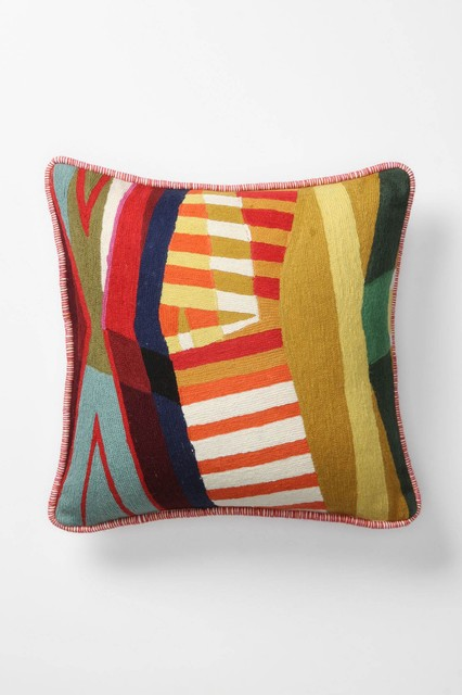 Modern Square Pillow Pull : Colorfield Collage Pillow, Square - Contemporary - Decorative Pillows - by Anthropologie