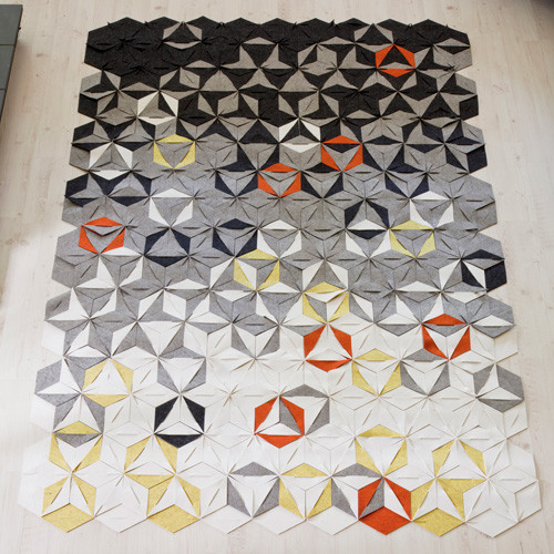 Hexrug Rug or Wall Hanging contemporary-rugs
